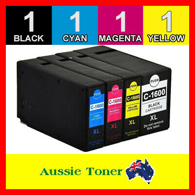 AU18.90 • Buy 4x PGI-1600XL Ink Cartridge For Canon Maxify MB2060 MB2160 MB2360 MB2760 Printer