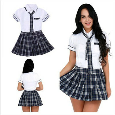 £10.89 • Buy Women's Sexy Lingerie School Girl Dress Uniform Cosplay Students Outfit Costumes