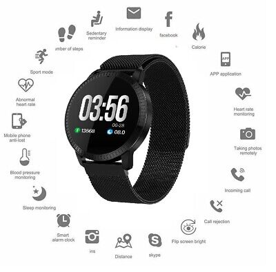 AU45.12 • Buy Smart Watch Sports Fitness Activity Heart Rate Tracker Blood Pressure Pedometer
