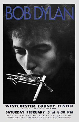 $13.99 • Buy Bob Dylan Replica 1966 *westchester County Center* Concert Poster