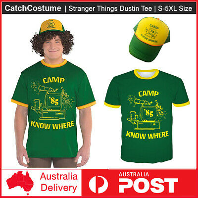 AU29.39 • Buy Kid Adult Stranger Things Dustin T-shirts Camp Know Where Tops Shirt Tee Gift AU