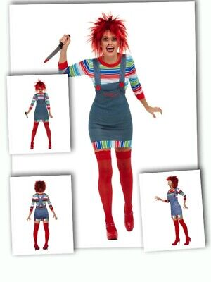 Women's Adult Bride Of Chucky Childs Play 2 Fancy Dress Halloween Doll Party Fun • 32.27£