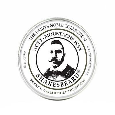 Moustache Wax By Shakesbeard 30g Tin Tropical Pineapple Premium Beard Care • 7.99£