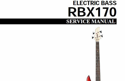 Yamaha Rbx170 Service Manual Book In English Electric Bass • 15.99£