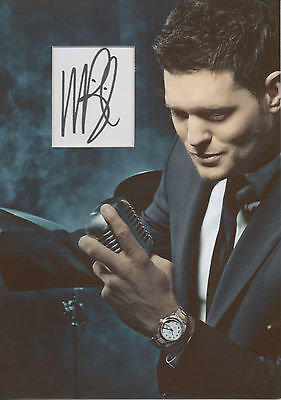 £69.99 • Buy MICHAEL BUBLE Signed 12x8 Photo Display IT'S A BEAUTIFUL DAY COA