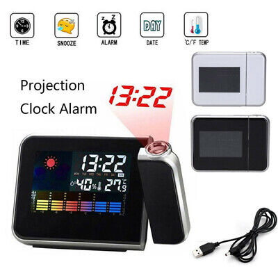 AU21.70 • Buy 1X Projection Digital LED Projector Weather Station Snooze Alarm Clock Calendar