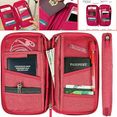 AU7.91 • Buy Travel Wallet Passport Holder RFID Organiser Pouch For Cards Documents IDS Money