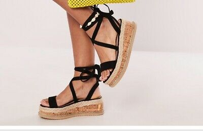 Womens Ego Official Black Sandals - Size 5 • 15£