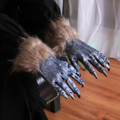 $12.99 • Buy Halloween Decorations Festival Gloves Solid Realistic Black Wolf Claw Gloves New