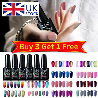 Belen 6PCS Colors Kit Gel Nail Polish UV LED Need Top Base Coat Varnish Lacquer • 9.59£