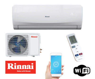 AU700 • Buy RINNAI (Q Series) 3.5kW REV Cycle Split System Air Conditioner HSNRQ35B+ WIFI