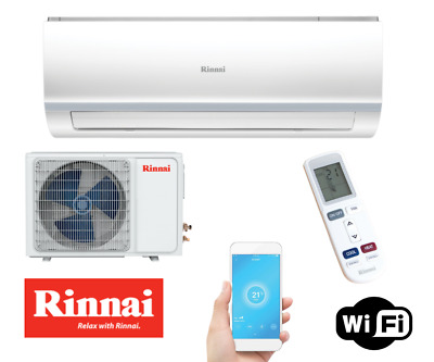 AU740 • Buy RINNAI (D Series) 3.5kW REV Cycle Split System Air Conditioner HSNRA35 + WIFI