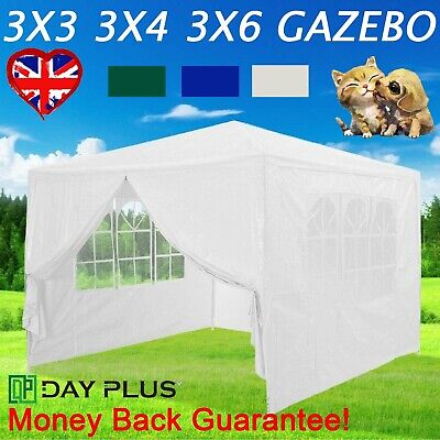 Marquee Gazebo Waterproof Outdoor Canopy With Side Panel Camping Wedding UK • 66.09£