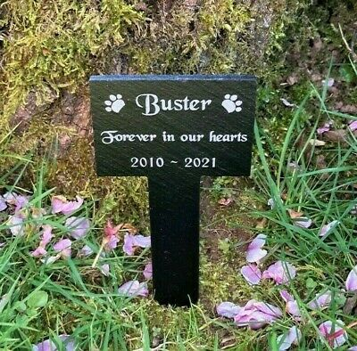£11.99 • Buy Personalised Engraved Pet Memorial Slate Stone Grave Marker Stake Plaque Dog Cat