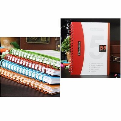 AU22.06 • Buy B5 Spiral Coil Number Colorful Notebook Diary Journal Student Note Book Memo New