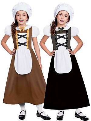 $13.83 • Buy Girls Tudor Costume Childs Poor Peasant Maid Fancy Dress Outfit Book Week Day
