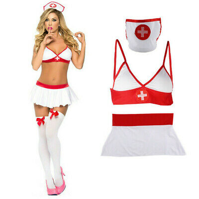Sexy Naughty Nurse Costume Hen Do Fancy Dress Party Outfit New Women's Ladies UK • 4.99£