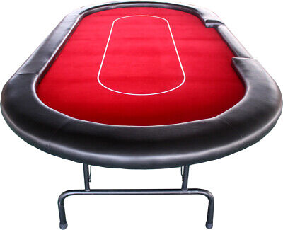 10-seat Professional Casino Dealer Poker Table With Strong & Foldable Metal Legs • 250£