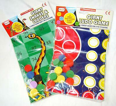 Giant Ludo/Snakes & Ladders Play Mat Board Traditional Children's Game • 7.19£