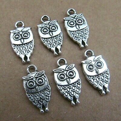 £0.99 • Buy  10 OWL Charm Antique Silver Jewellery Making Harry Potter Halloween Wicca Sp69