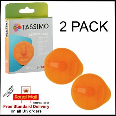 2 Pack Bosch Tassimo Orange Service T-disc For Coffee Machines 576837 17001491 • 11.99£