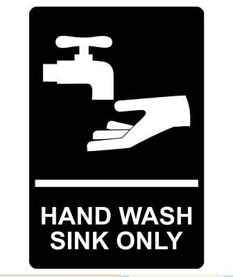 Hand Wash Sink Only Sign Plaque Available In 6 Sizes And 30 Colours • 24.95£