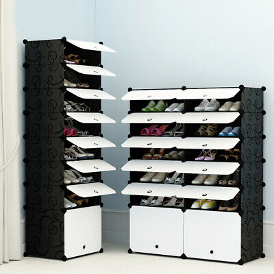 AU41.99 • Buy White Door Cube DIY Shoe Cabinet Rack Storage Portable Stackable Organiser Stand