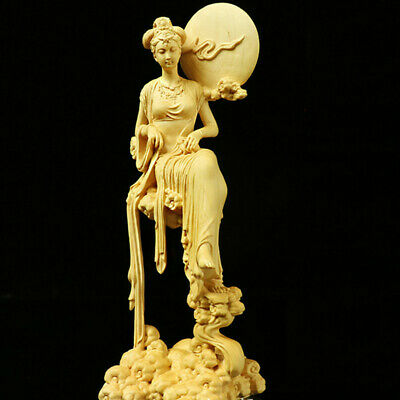 £43.09 • Buy 7  Boxwood Wood Carving Chang'e Statue Mythological Figure Sculpture Collection