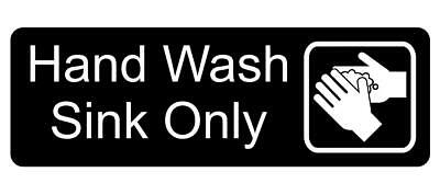 Hand Wash Sink Only With Graphic Sign Plaque Available In 30 Colours And 5 Sizes • 17.96£