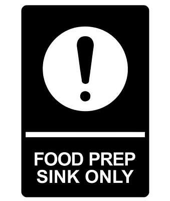 Food Prep Sink Only Sign Plaque Available In 30 Colours And 6 Sizes Wash Washing • 24.49£