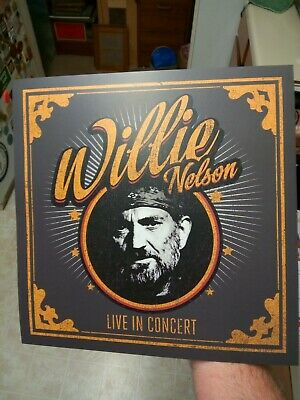 $5 • Buy Willie Nelson Live In Concert 1-Sided Flat Square Poster 12x12