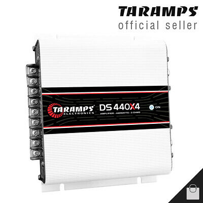 AU167.92 • Buy Taramps DS 440X4 Amplifier 440 Watts Compact Amp 4 Channel Car - 3 Day Delivery