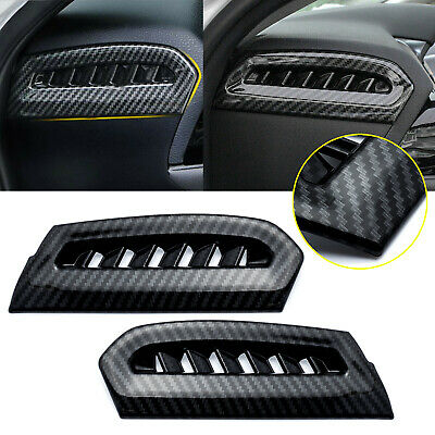 $15.88 • Buy Carbon Fiber Style Side Console Air Vent Outlet Trim For Toyota Camry 2018-2020