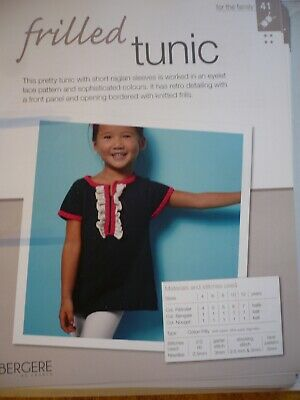 Frilled Tunic Knitting Pattern From Bergere De France Magazine • 1.50£