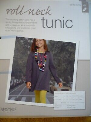 Roll Neck Tunic Knitting Pattern From Bergere De France Magazine • 1.50£