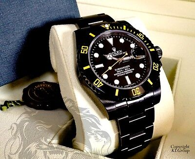 $ CDN23417.17 • Buy KingsLife Limited Edition Black ROLEX Submariner GIALLO YELLOW DLC / PVD  116610