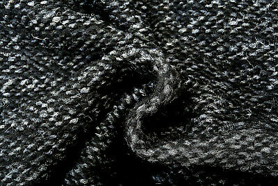 £6.99 • Buy Boiled Wool & Cashmere Grey's & Black Chunky Aduluscent Knit Made In Italy D270