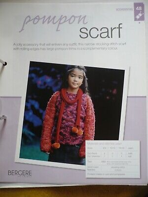 Pompon Scarf Knitting Pattern From Bergere De France Magazine • 1.50£