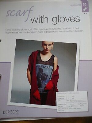 Scarf With Gloves Knitting Pattern From Bergere De France Magazine • 1.50£