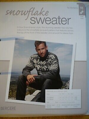 Snowflake Sweater Knitting Pattern From Bergere De France Magazine • 1.50£