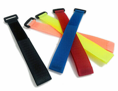 25mm Reusable Ring Strap With VELCRO® Brand Tape, Cable Ties Buckle Straps X 10 • 9.99£
