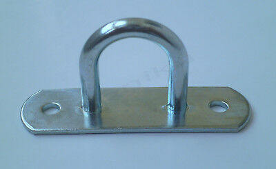 AU4.73 • Buy 1 X Tie Down Lashing D Ring Awning Tarp Load Securing Steel Hook Anchor Point