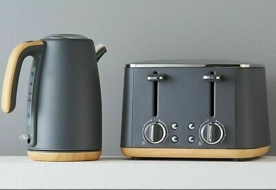 AU109.95 • Buy Grey 4 Slice Toaster And 1.7L Kettle Set - New