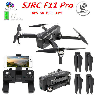 AU264.94 • Buy SJRC F11 RC Drone Pro Wifi APP FPV Folding Wide-Angle 1080P HD Camera Quadcopter