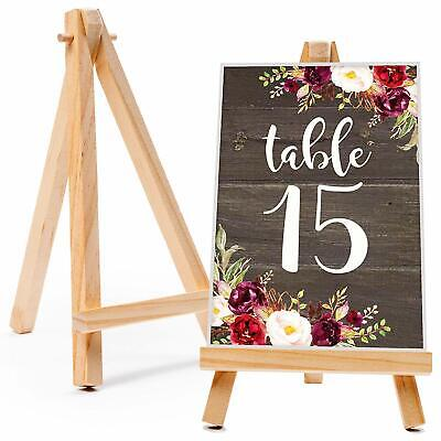 20x Mini Wooden Easel Table Wedding Decor Picture Name Card Holder Display Stand • 11.99£