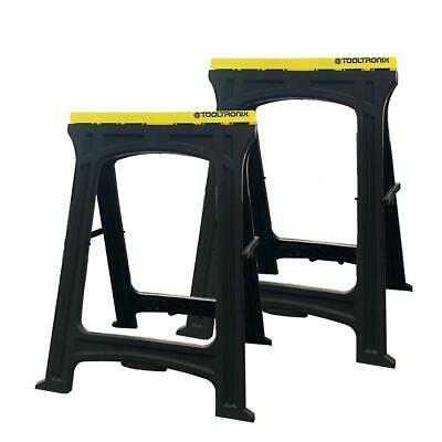 AU55.16 • Buy ToolTronix Folding Saw Horse Trestle Twin Support Bars Cutting Stands Work Bench