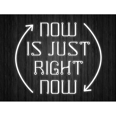 Now Is Just Right Quote Light Motivation Typography Unframed Wall Art Poster • 9£