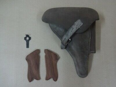 Leather Holster For WW2 P08 Oiled W/Take Down Tool & Hand Grips Reproduction W24 • 51.19£