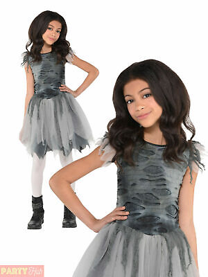 Girls Zombie Bride Tutu Halloween Fancy Dress Costume Kids Corpse Walking Dead • 7.56£