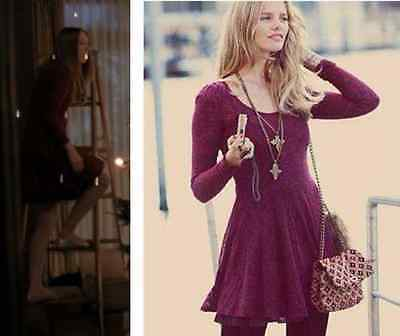 $ CDN119.30 • Buy Free People Red Fit Flare A Line Floral Lace Dress Violet Harmon XS Rare